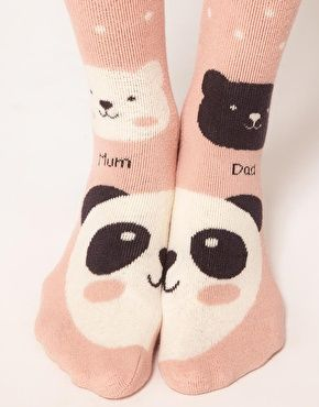Enlarge Oysho Anti Slip Panda 2 Pack Socks