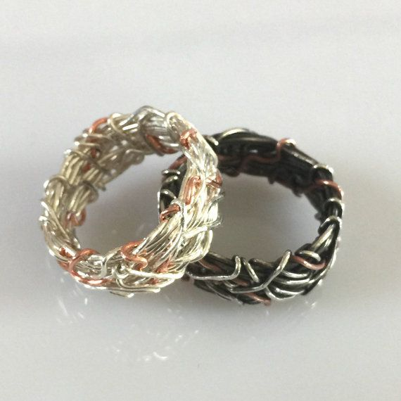 Yin Yang Wedding Bands, His and Hers Wedding rings, Unique Rings, Matching Wedding Bands, Matching Couple Jewelry, Chinese Wedding Rings