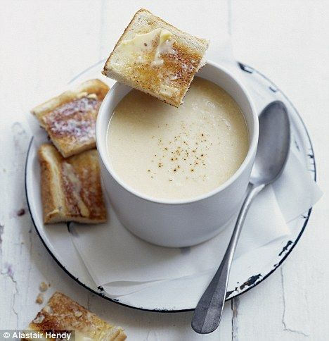 Cauliflower and cheese soup.