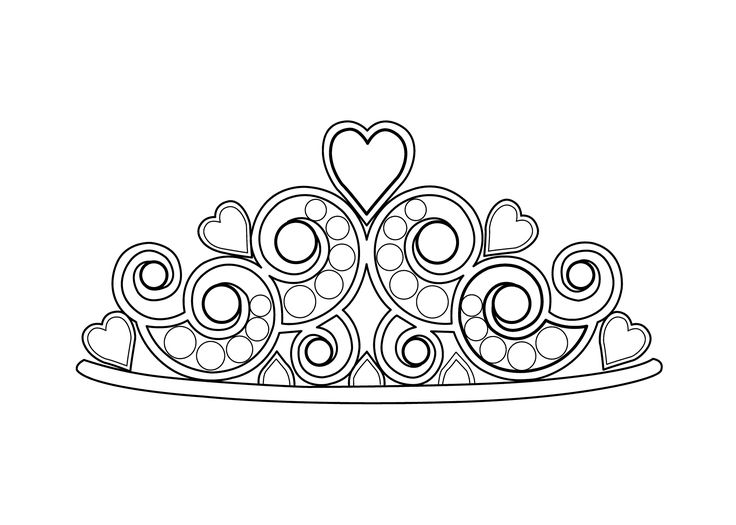 Pretty Princess Tiara Coloring Pages Coloring Pages Tiara Coloring Page