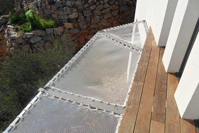 filet sur une terrasse