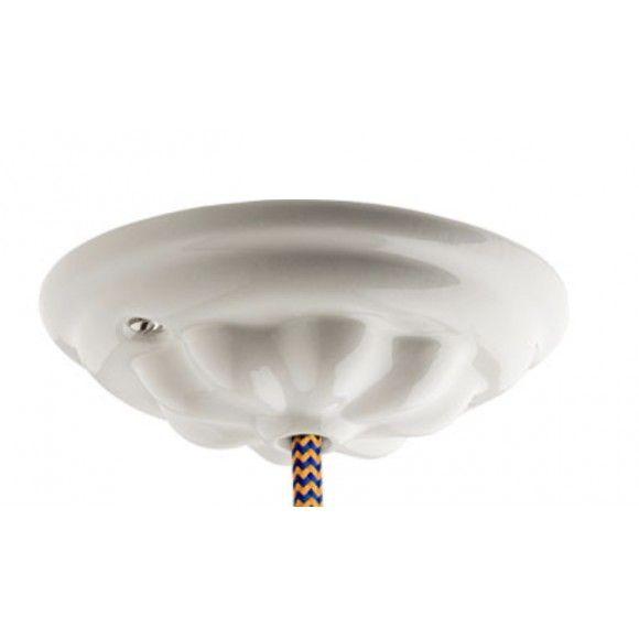 Rosace de plafond ancienne en porcelaine ou céramique luminaire plafonnier
