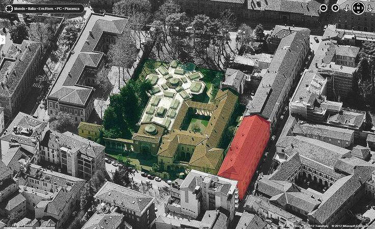Veduta dall'alto della Galleria d'Arte Moderna Ricci Oddi, Piacenza