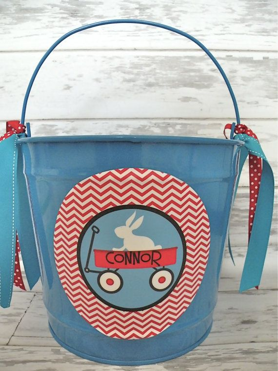 custom personalized 10 QUART name bucket in by monkeyseeboutique, $30.00