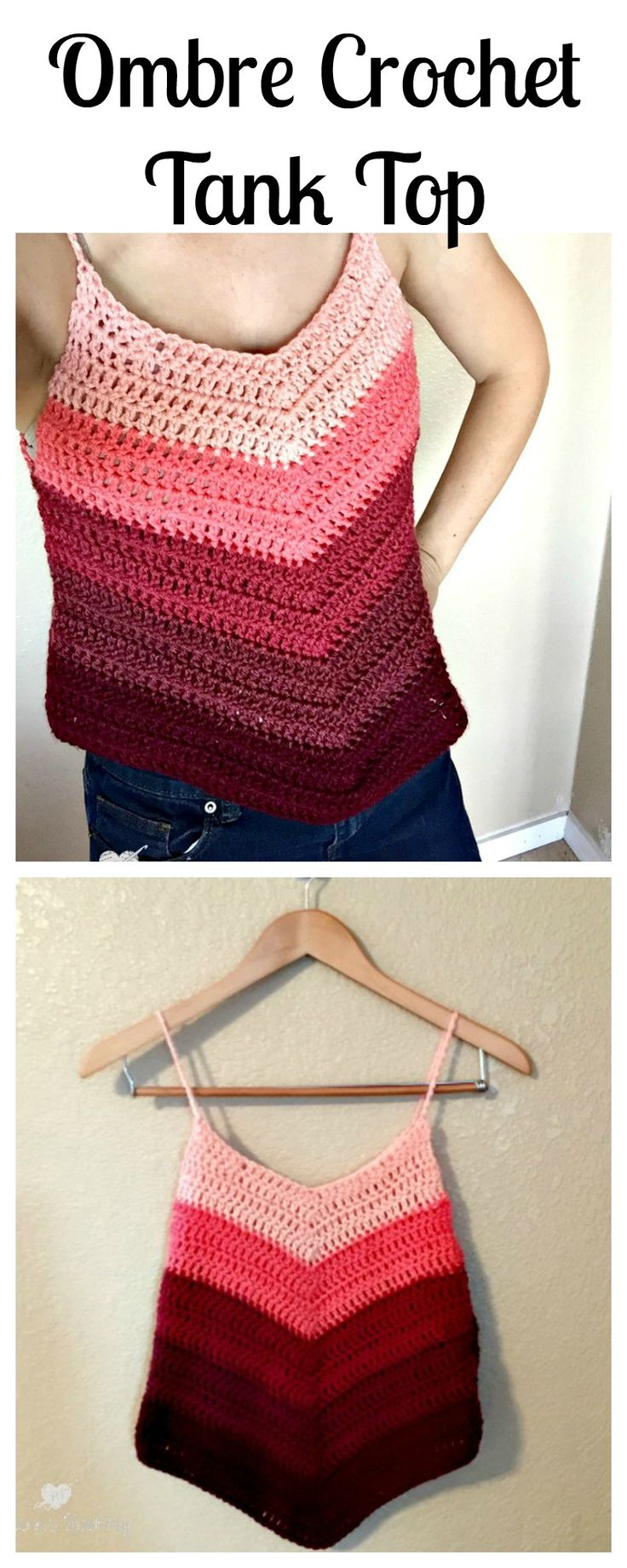 Are you ready for summer? I so am! This Ombre Crochet Tank Top is the perfect addition to my summer wardrobe. When I saw the Loops & Threads Color Wheel yarn beautifully so lined up in this col…