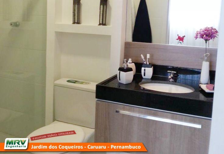 Apartamento decorado 2 quartos do Jardim dos Coqueiros no bairro Maurício de  -> Banheiro Planejado Mrv