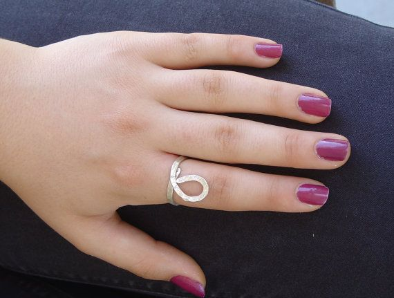 RING  handmade silver ring TEAR by Vroullis on Etsy, €19.00