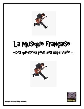"French – la musique française – French music video-clips activity - Have your students explore music from the top 100 list in France.  This worksheet is the perfect supplement to the ""musique française"" free download found in my ""other"" category at my TpT store."