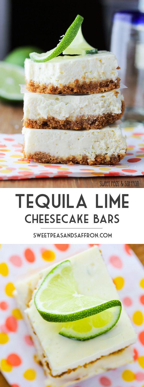 Tequila Lime Cheesecake Bars | sweetpeasandsaffron.com @sweetpeasaffron