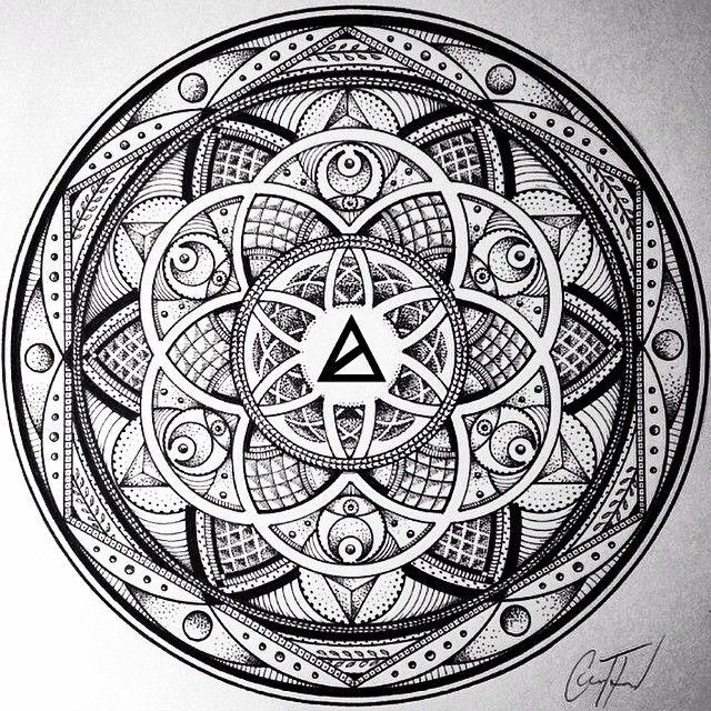 Most Popular Image of 2014. Artwork by @glennlthomson | AWAK3N x Glenn Thomson Collection Coming Jan '15 #sacredgeometry #awak3n #mandala