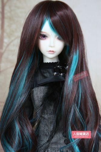 BJD-Doll-Hair-Wig-9-10-inch-22-24cm-1-3-SD-DZ-DOD-LUTS-Brown-green