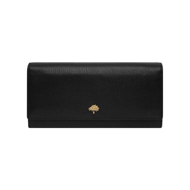 Mulberry - Tree Continental Wallet in Black Glossy Goat