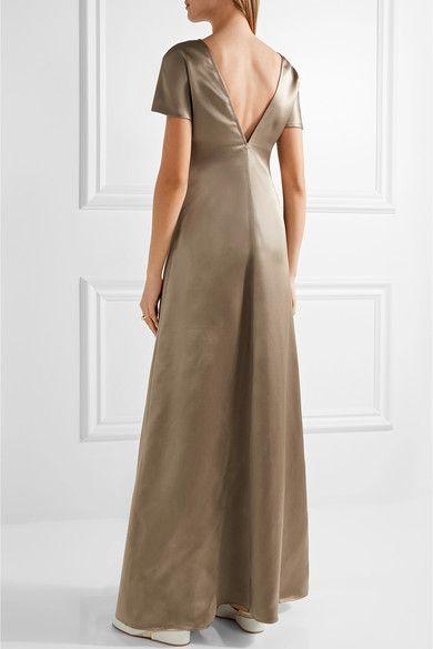 Barbara Casasola | Silk-satin maxi dress | NET-A-PORTER.COM