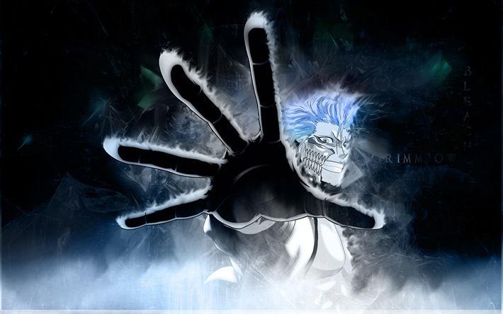 Télécharger fonds d'écran Grimmjow Jaegerjaquez, l'art, la main, le manga, les personnages de l'anime, de l'eau de Javel