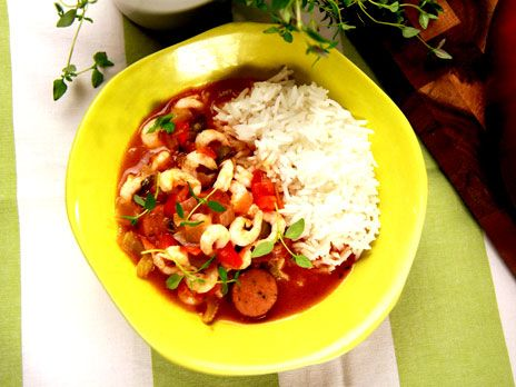 Gumbo med chorizo och räkor | Recept från Köket.se