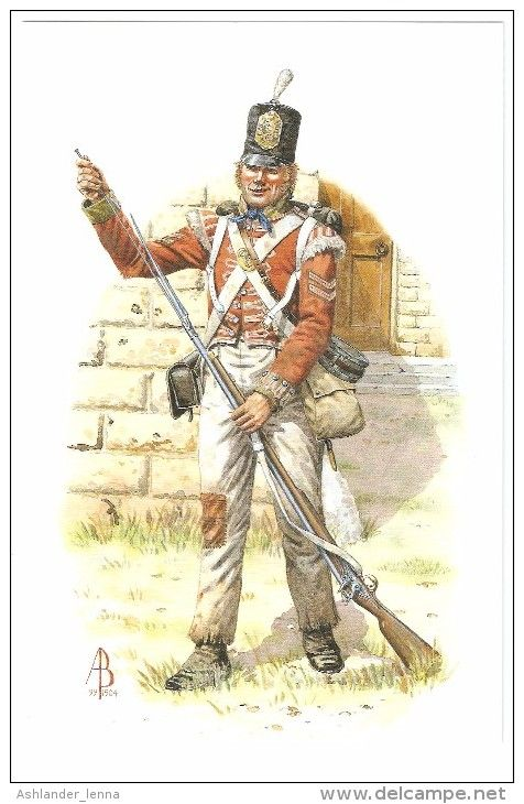 """Caporale della compagnia granatieri del 5 rgt. fanteria di linea """"Northumberland"""""""