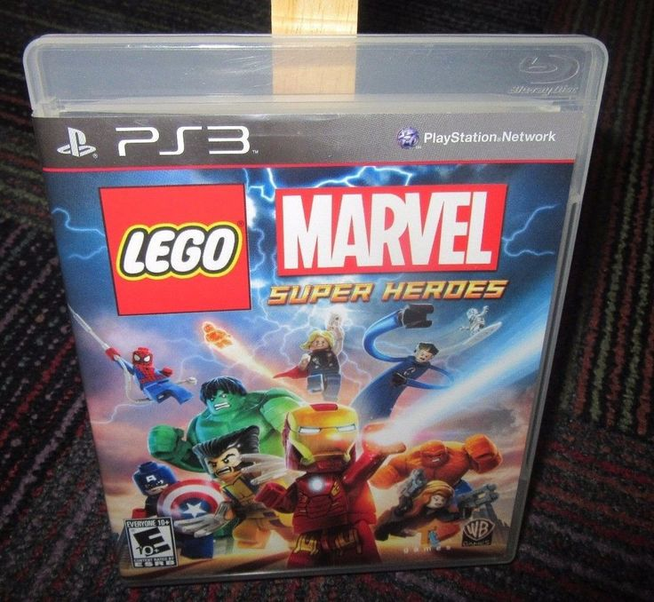 LEGO MARVEL SUPER HEROES GAME FOR PS3 PLAYSTATION 3,CASE, GAME & MANUAL, GUC