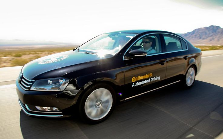 Continentalなる自動車部品メーカーが発表した自動運転向けの実験車。同社は道路上の事故原因の95%は人間、そのうち76%は人間だけに問題があった、などのデータを考慮しつつ自動運転車の開発を行う。