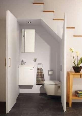 Gäste Wc, Waschbecken, Badezimmer, Wohnen, Bad Unter Der Treppe, Lagerung  Unter Treppen, Treppenspeicher, Dachgeschoss Badezimmer, Keller Ideen