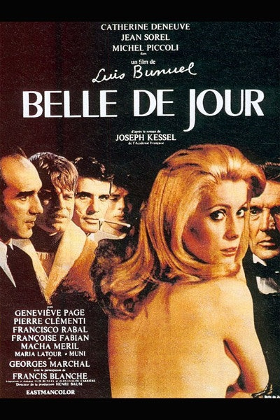 1967 Belle de jour, de Luis Bunuel A french movie that had me asking lots of questions at the time (French subtitles).  The start of my appreciation for many European films.
