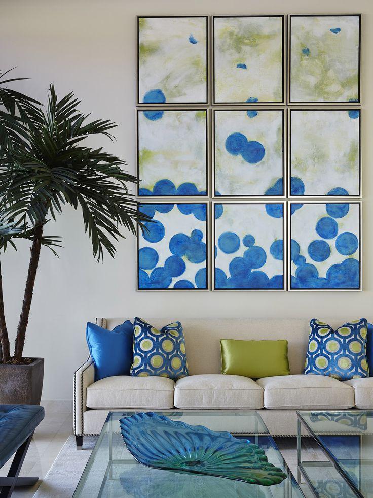 Interior by Jill Jones of Brown's Interior Design, Boca Raton FL | Bernhardt Palisades Sofa, Harlow Bench