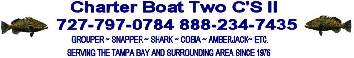 Fishing Indian Rocks Beach Fishing at Clearwater Beach on Charter Boat Two C'S II  Florida Deep Sea Fishing Charters Clearwater/Tampa/Orland...