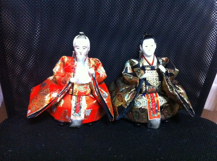 Two ministers (Samurai) hina dolls by FlatRiver on Etsy