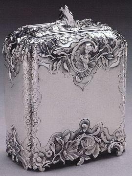 Tea Canister by Paul de Lamerie, 1741.