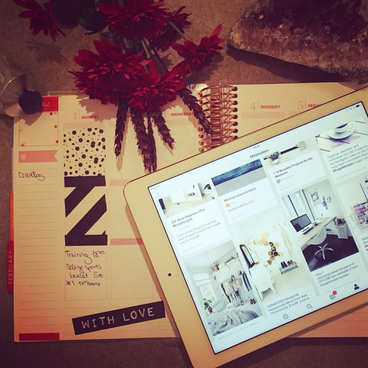 Week planning and Pinterest