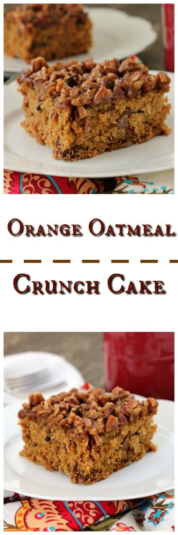 Orange Oatmeal Crunch Cake is a unique variation of the old fashioned oatmeal cakes we've enjoyed making for years.