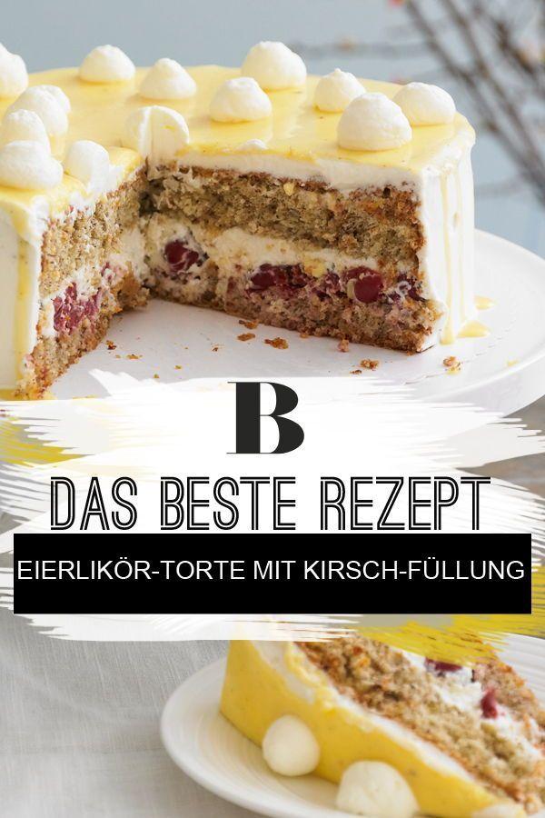 Eierlikor Torte Mit Kirsch Fullung Rezept Chefkoch Brigitte