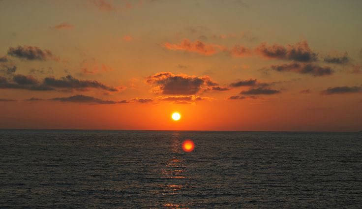 sunset at Kathisma beach Lefkada -Greece