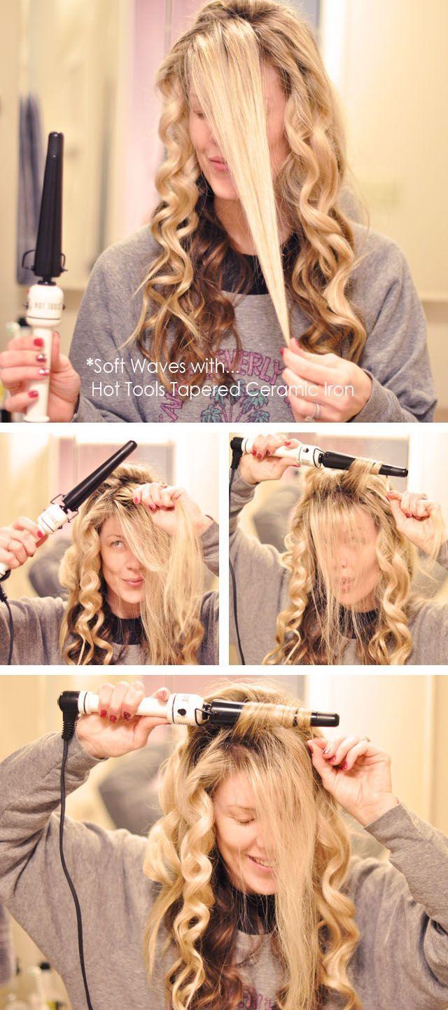 soft beachy waves hair tutorial by lovemaegan: hair wand
