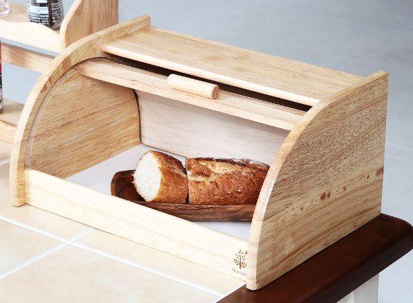【カントリー調】木製ブレッドケース(送料無料)