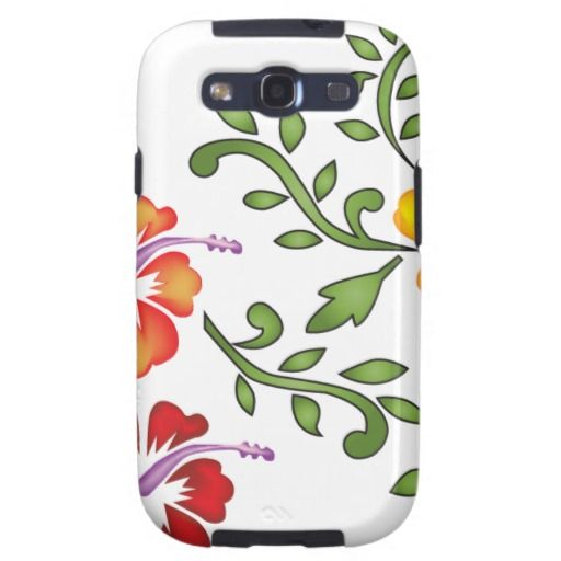 Hibiscus flowers ornament samsung galaxy s3 covers