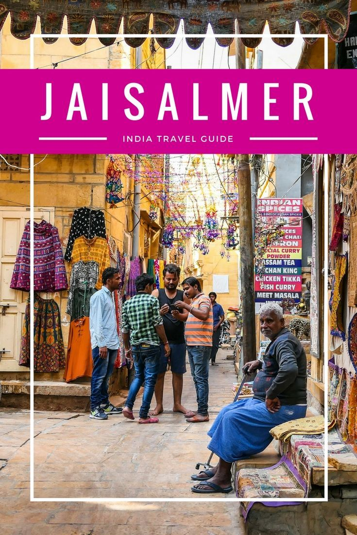 JAISALMER, INDIA: A travel guide to visiting Jaisalmer - the Golden City - which sits in the middle of India's Thar Desert. We cover Jaisalmer Fort, Jaisalmer Palaces (havelis), markets, the Jain Temples, Gadisar Lake, and camel safaris into the desert.