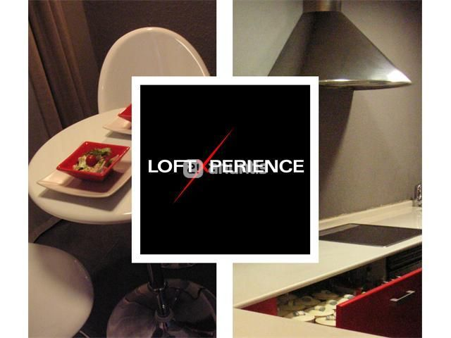 recioso Loft de 90m2todo en un espacio unitario, sin habitaciones. Amplia cocina de 14m2, comedor de 22m2 y dormitorio de otros 22m2.Primeras calidades, comoCocina de diseño italiano, en blancos y rojos con sobre de Silestone blanco antibacterias en la cocina.Falso techo de pladur con sistema de iluminacion centralizado con panel de aluminio SimonLuces tenues, calidas y luces focales regulables, con luz roja intensa efecto calido.Aire acondicionado con calefaccion y filtro de agu...