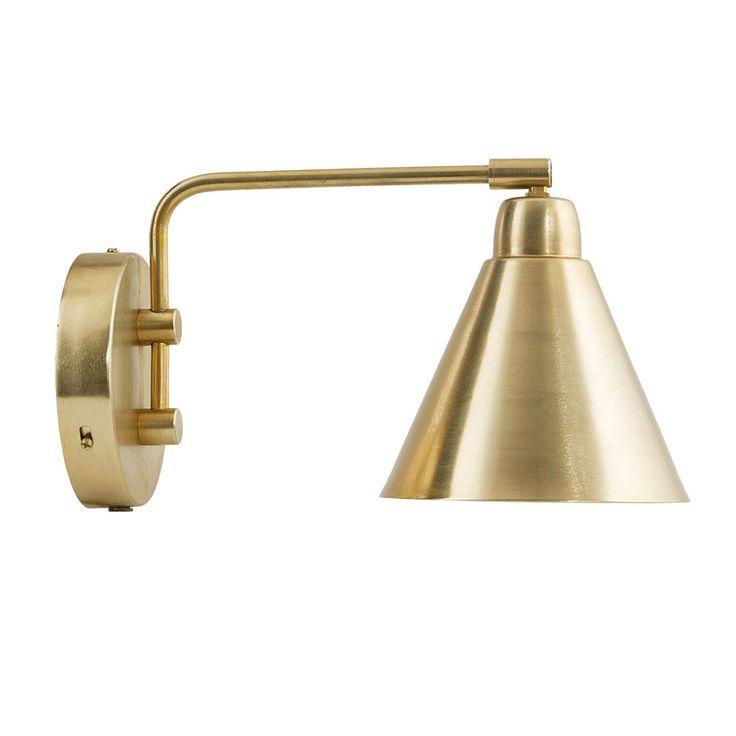 Game Vägglampa 20cm, Mässing/Vit 1255 kr. - RoyalDesign.se