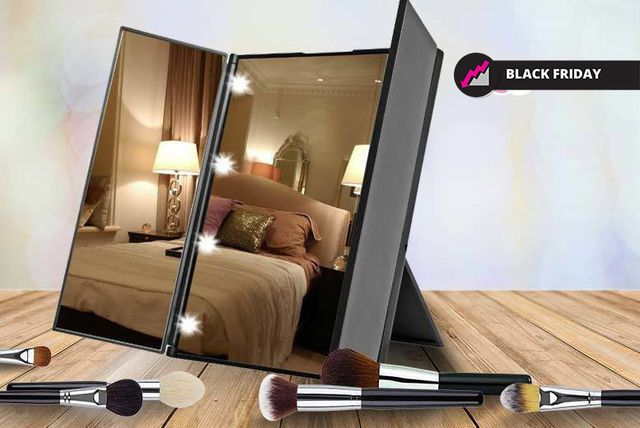 Tri-Fold LED Makeup Mirror - 3 Colours!