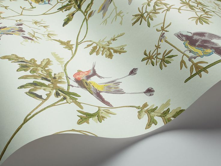 COLE & SON COLLECTION OF FLOWERS HUMMING BIRDS WALLPAPER 62/1004 #ColeSon #Wallpaper