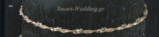 Ασημένια στέφανα γάμου σε ροζ - χρυσό με ποτήρι και καράφα