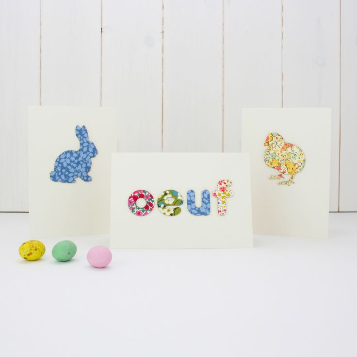 Handmade easter card | vintage fabric from Bombus