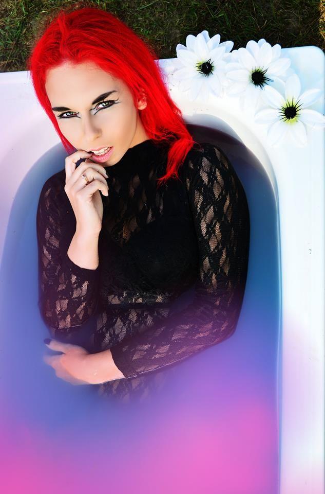 Model: Milena Corleone https://www.facebook.com/milena.corleone.studio Make Up: Magdalena Pyzik Photographer: Anita Kalinowska Assistant: Adrian Średniawski  #model #redhead #red #hair #milenacorleone #bath #photoshoot #photography #inspiration #portrait #portraitphotography #eyes #look #wet #makeup #graphic #design #lace #flowers #water #colours #color #unrealistic #violet #blue #sky #bathroom #bathphoto #sexy #provocative #provocateur