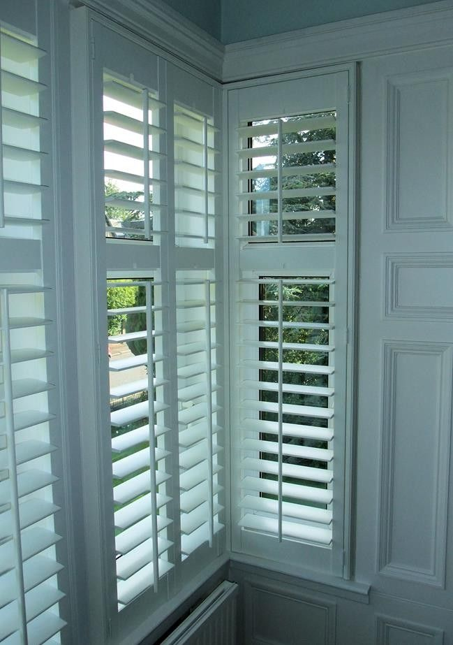 For the playroom - White Square Bay Window Shutters