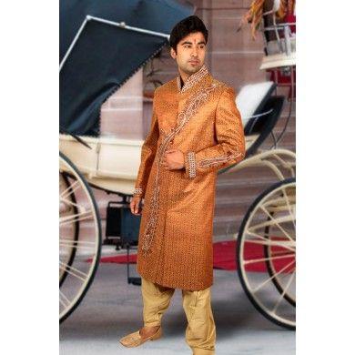 Ideal Designer #Wedding #Sherwani.  Buy online at www.ethnickurtas.com