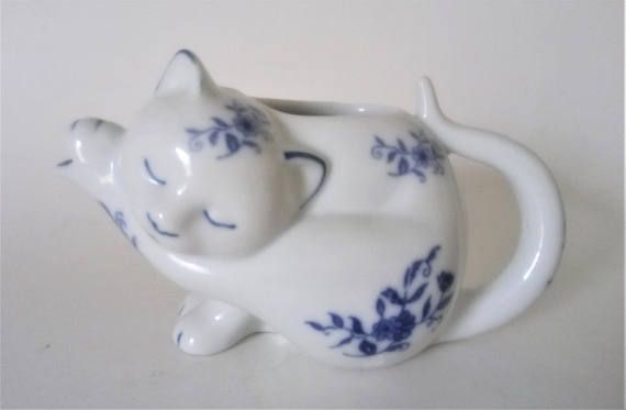 Vintage Cat Creamer JSNY China Collectible Cat