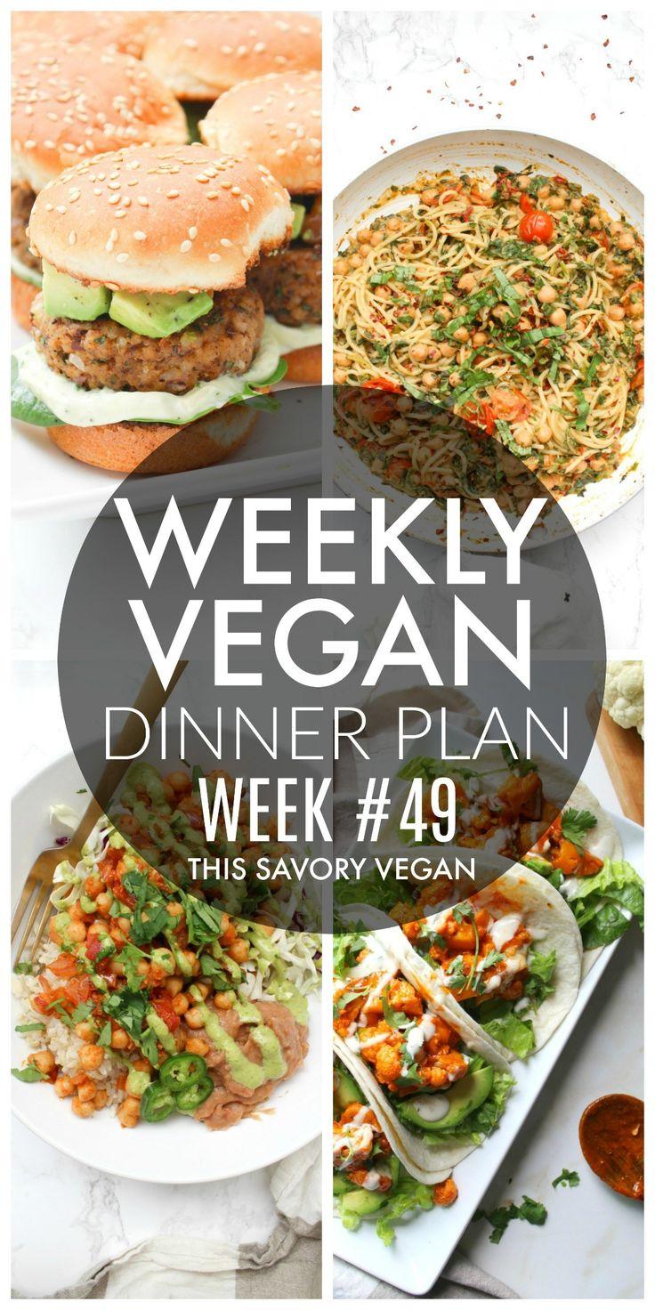 Weekly Vegan Dinner Plan #49