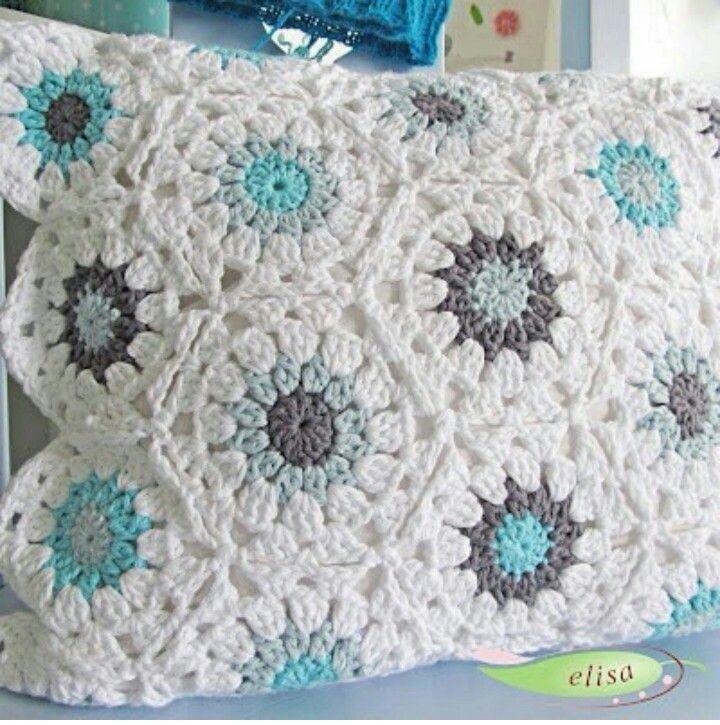 40 best Cojines a Crochet images on Pinterest | Cojines de ganchillo ...