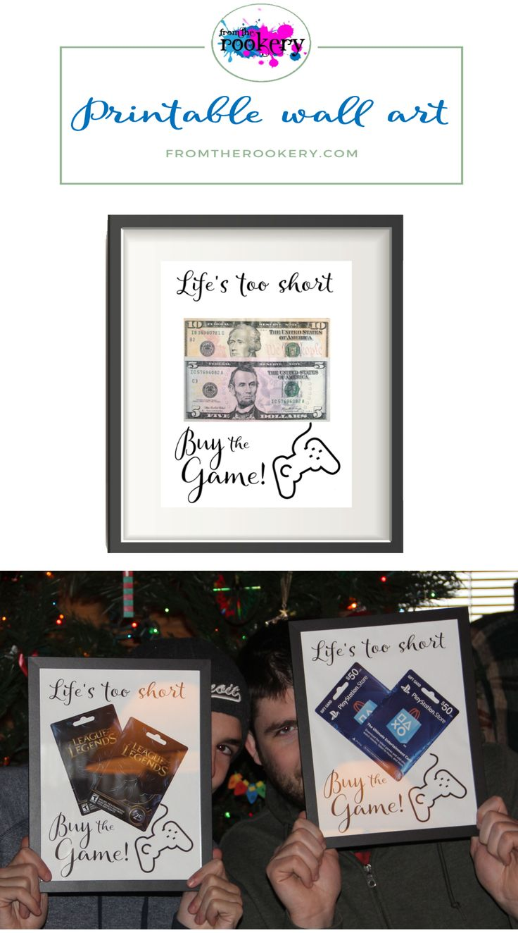I ordered as a Christmas gift for my boys. They loved it!!  Once they used the gift cards they both put them back into the frame and hung them on their bedroom wall. They really loved how unique it was! #gamer #gifts #handmade #ideas #teenager