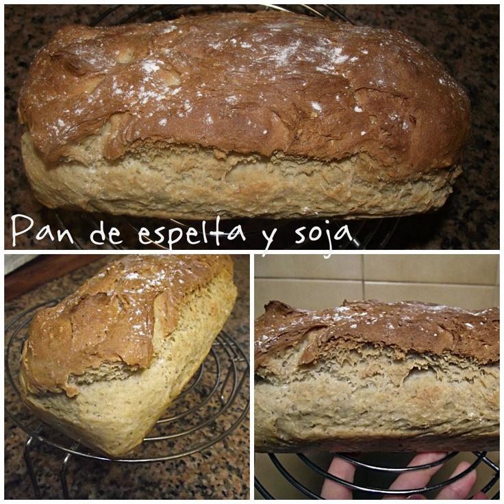 Pan de harina de espelta y soja